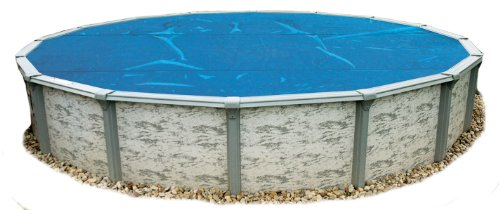 (Blue Wave NS115 8-mil Solar Blanket for Round Above-Ground Pools, 21-ft, Blue)