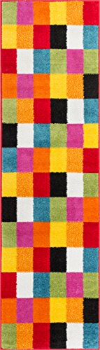 Well-Woven-Squares-Soft-Multi-Geometric-Accent-Area-Rug-2-Feet-x-7-Feet-3-Inch-Runner