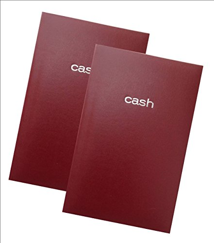 Mead Cash Book, 7-15/16 x 5-1/8 inches, 144 pages Hardbound Red Cover (64582) - Set of 2 Books