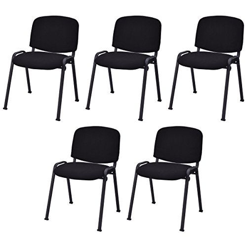 Giantex Set of 5 Conference Chair Elegant Design Office Waiting Room Guest Reception (Elegant Office Chairs)