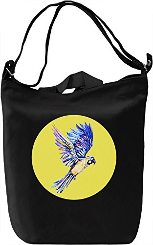 Pop Art Parrot Borsa Giornaliera Canvas Canvas Day Bag| 100% Premium Cotton Canvas| DTG Printing|