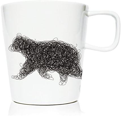 We Love Home - Taza Mug de porcelana 20 cl. estilo nórdico modelo Yukon Oso: Amazon.es: Hogar