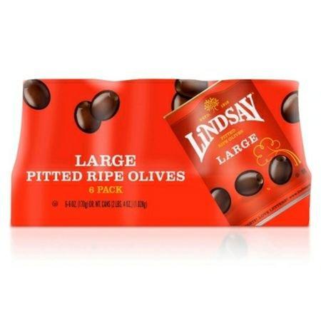 Large Pitted Ripe Olives (Lindsay® Large Pitted Olives - 6/6oz)