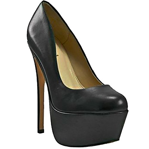 Zigi Girl - Zigi Girl SPYGLASS Womens Suede Leather Platform Pumps in BLACK (9, Black Leather)