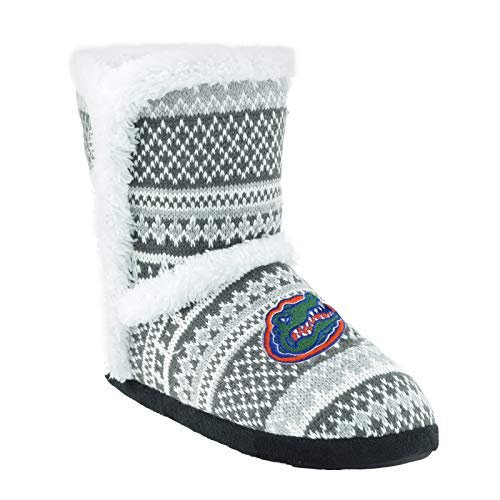 Campus Footnotes High End Knit Sherpa-Lined Boots Pick Your Team - (Medium 7-8, Florida Gators)