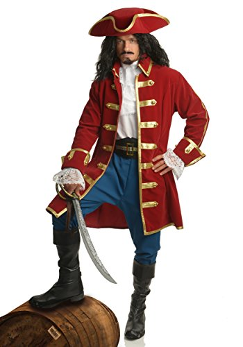Rum Pirate Adult Costume (XL) (Captain Hook Adult Costume)