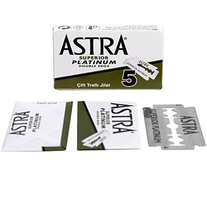 Astra Superior Platinum Double Edge Razor Blades - 20 Ct