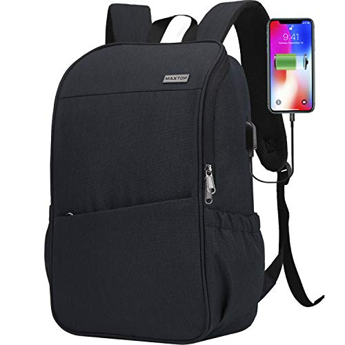 Laptop Backpack for Men Women Bookbag School Backpack with USB Charging Port Anti-Theft[Water Resistant] Work College Business Travel Computer Backpack Fits up to 16″ Notebook