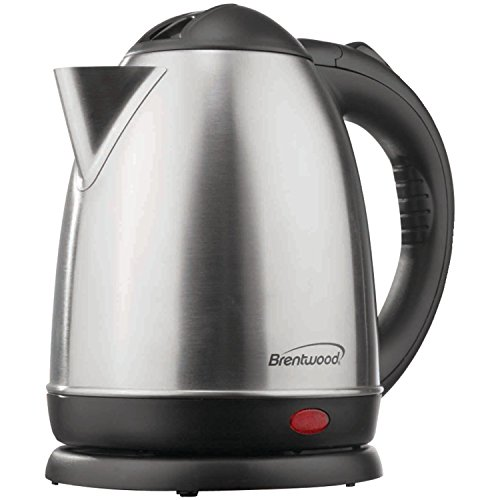 Brentwood KT-1780 Appliances 1.5 L Stainless Steel Electric Cordless Tea Kettle, Silver
