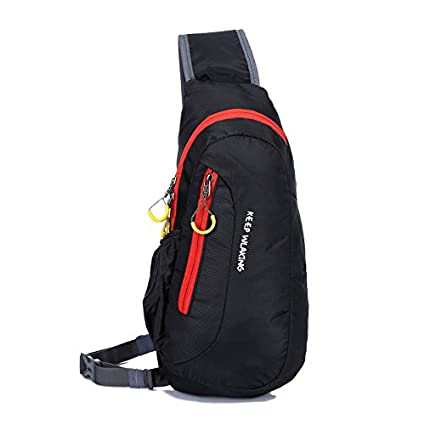 Generic Waterproof Outdoor Sports Messenger Shoulder Bag For Camping Hiking  Daypack Backpack Sling Pouch Bag - Black  Amazon.in  Bags 0c6043893b788