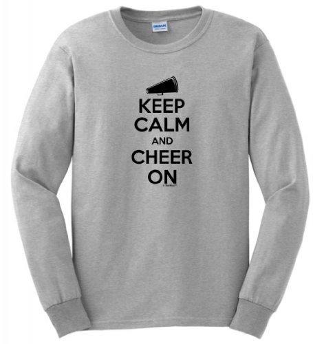 Keep Calm Cheer Sleeve T Shirt