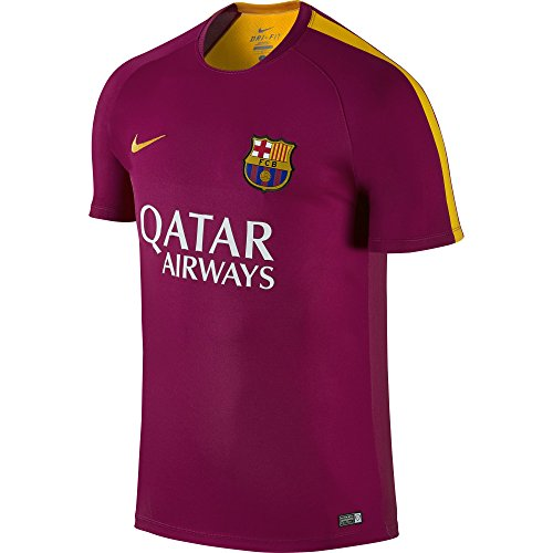 Nike FC Barcelona Pre-Match Training Mens Jersey [DYNAMIC BERRY] (S)