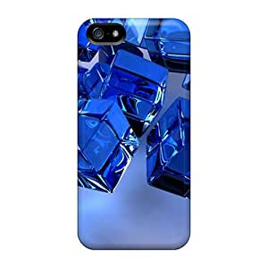 Anti-scratch And Shatterproof Fall Of Cubes Phone Cases For Iphone 4/4S High Quality Cases