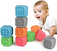 TUMAMA Soft Building Blocks Baby Toy for 6 Months and Up, Stacking Toys , Baby Teethers Birthday Gifts for Kid