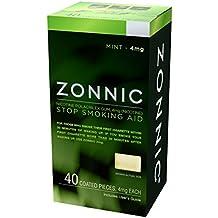 ZONNIC Nicotine Gum 4mg Mint - 40 Count - Quit Smoking Aids, Sugar Free Stop Smoking Gum