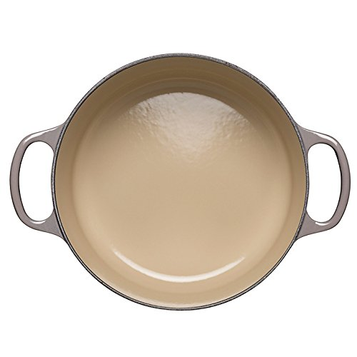Le Creuset Signature Enameled Cast-Iron 5-1/2-Quart Round French (Dutch) Oven, Oyster by Le Creuset (Image #5)