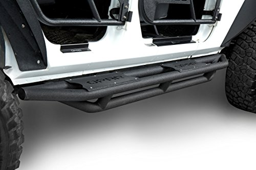 Jeep Wrangler 4 Doors Side Steps Running Board Rocker Guards for 2007-2018 Jeep Wrangler JK Unlimited