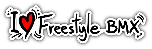 (novland I Love Freestyle BMX Car Bumper Sticker Decal 8'' x 2'' )