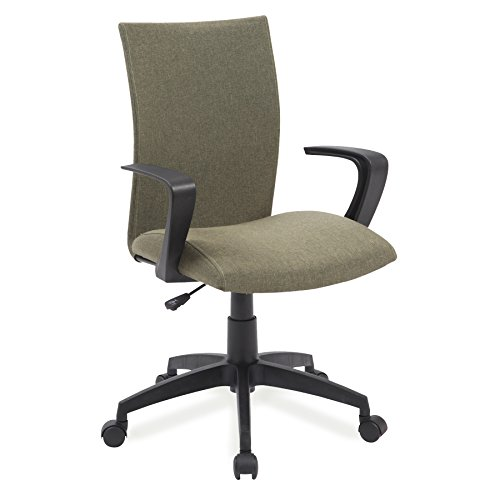 Leick 10115GN Linen Apostrophe Office Chair with Black Caster Base, Sage Green (Chair Arm Upholstery Sage)