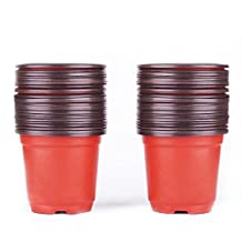 "Nursery Pot , Peyou [100 PCS] 4"" Plastic Plants Nursery Pot,Flower Seedlings Nursery Supplies Planter Pot,Flower Plant Container,Seed Starting Pots for Indoor and Oudoor Plants"