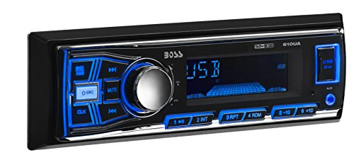 BOSS Audio 610UA - Single Din Mech-Less (No CD/DVD) Multimedia Player, Non-Bluetooth Enabled