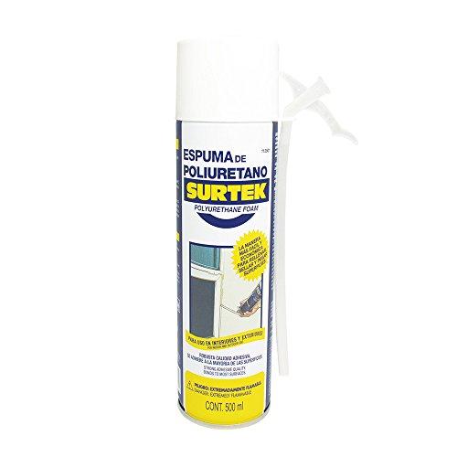 Surtek 113501 Espuma de Poliuretano Uso Industrial, 500 ml