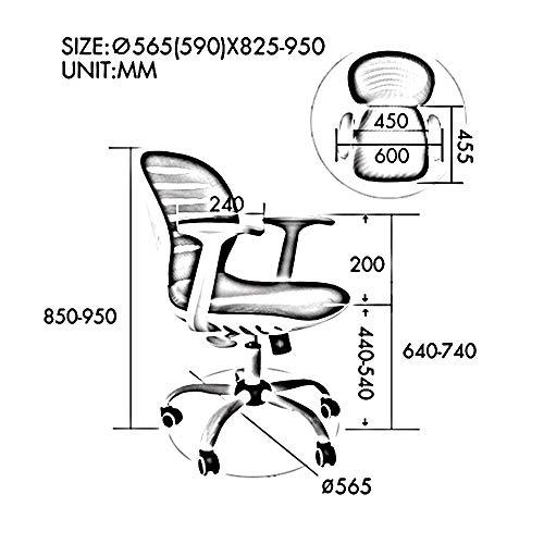 Kontorsstol svängbar andningsbar mesh uppgift stol med armar hög rygg datorstol höjd justerbar skrivbordsstol arbetsstol – 5 färger (färg: ORANGE)