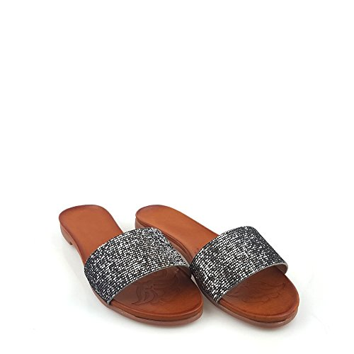 silver Miss Femme Miss Femme Mules Diva silver Diva Mules nAaqwUw81Z