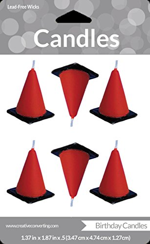 orange cones candles - 5