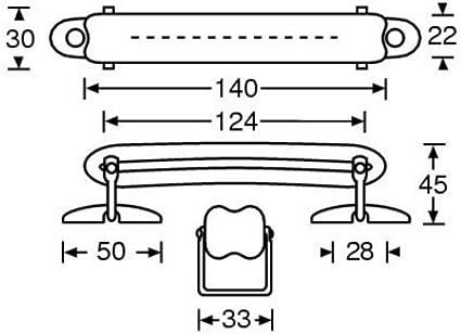 ah Hardware 3415 - Asa para estuche (piel), color negro: Amazon.es: Instrumentos musicales