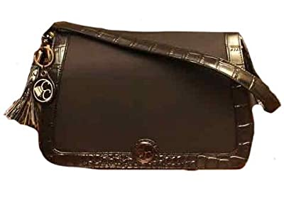 Concealed Carrie Classic Black Leather Shoulder Clutch