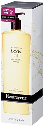 Neutrogena Body Oil, Light Sesame Formula, 32 Ounce