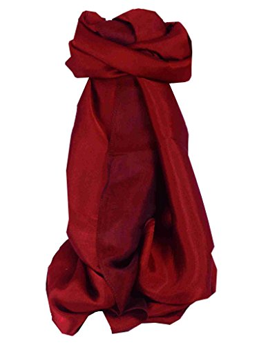 Vietnamese Silk Scarf Reversible Hoi-An Giana Plain Ruby by Pashmina & Silk