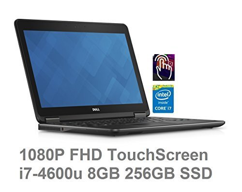 Dell Latitude E7240 ULTRABOOK 12.5in (1920x1080) Full HD TOUCHSCREEN | Core i7-4600U | 256GB SSD | 8GB RAM |Finger Print | Windows 8 Professional (Renewed)