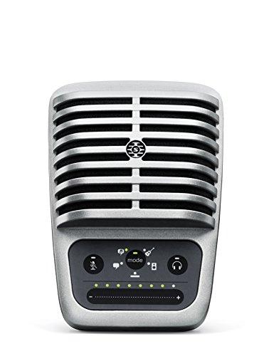 Micrófono de condensador de diafragma grande digital Shure MV51 + cable USB y de iluminación