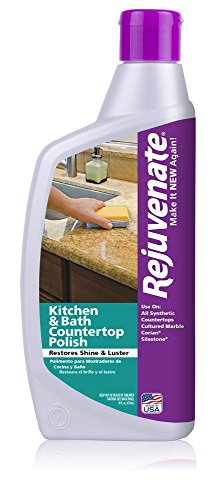 (Rejuvenate Kitchen & Bathroom Countertop Polish – Brings Back Shine and Luster to All Kitchen and Bathroom Countertops in One Easy Application – 16 Ounce)