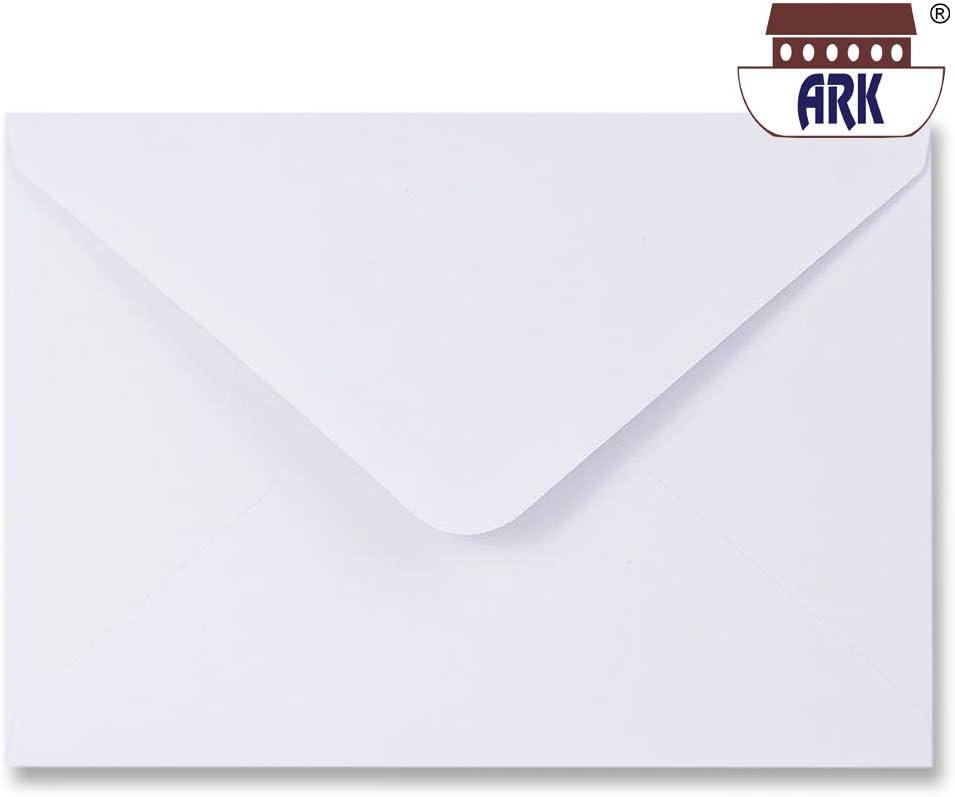 100 unidades, 162 x 229 mm ARK C5 Sobres para tarjetas de felicitaci/ón color blanco