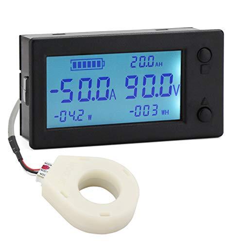 DROK DC 0-300V 200A STN LCD Display Digital Multimeter Voltage Ampere Power Energy Ammeter Voltmeter Battery Volt Amp Meter AH Monitor Panel with Hall Sensor ...
