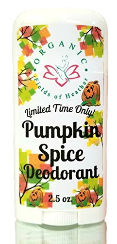 Organic Deodorant | PUMPKIN SPICE SCENT | Healthy Botanically Infused Ingredients | 2.5 oz (Field Pumpkin)