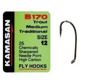 Size 12 Kamasan B170 Trout Medium Traditional Hooks