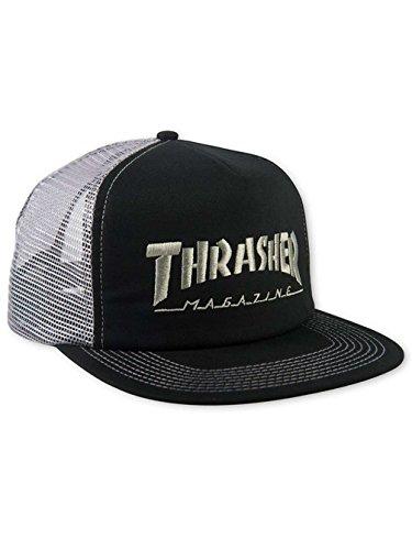 1b720ab59ba Galleon - Thrasher Men s Mesh Cap Trucker Cap - Black grey