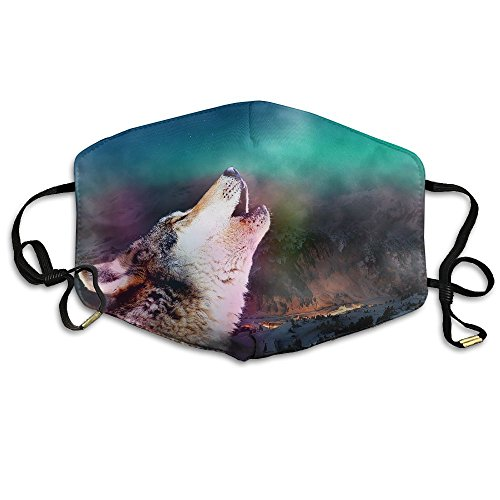 Northern Lights Wolf Unisex Polyester Mouth Mask Breath Healthy Comfortable Ski Face - Sunglasses Cheaper