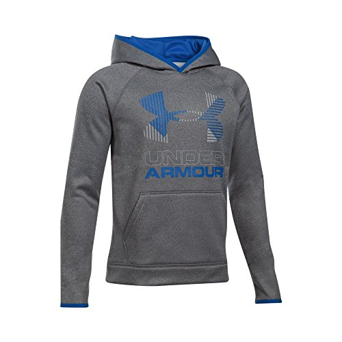 Under Armour Boys Sg Af Solid Big Logo Hoodie  X Large  Graphite Overcast Gray