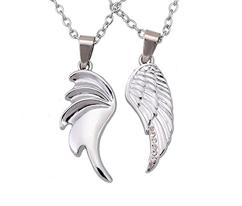 [THOBAL 1 pair Silver Alloy lovers pendant couple relationship necklace puzzle necklace for couples] (Tardis Costume Etsy)