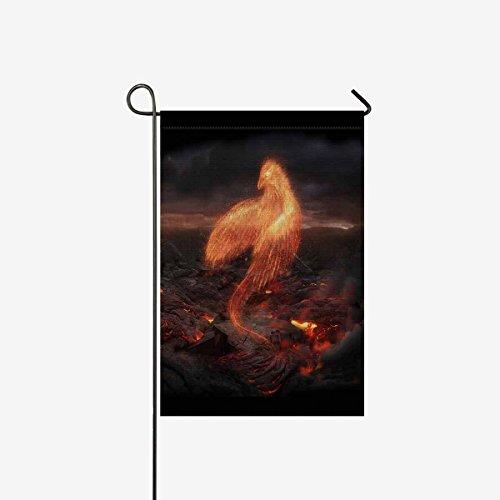 InterestPrint Cool Burning Bird Phoenix in Volcanic Landscap