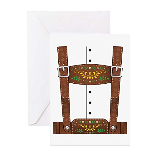 CafePress Lederhosen Oktoberfest Greeting Card, Note Card, Birthday Card, Blank Inside Matte]()
