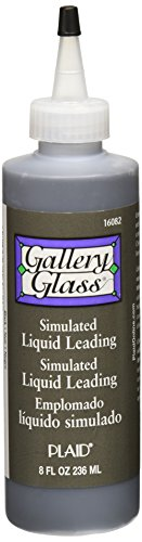 Accessories Gallery Glass (Gallery Glass Liquid Lead, 8 ounce, Black 16082)