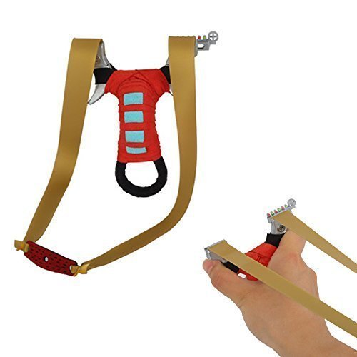 TOPARCHERY Flat Band Slingshot Hunting Detachable Catapult with Rubber Bands, Aiming Points (Red (Old Model))