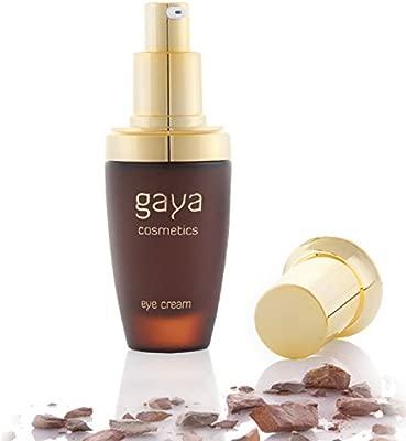 Crema de Ojos Vegana Tratamiento Antiedad para Círculos Oscuros, Quita Ojeras, Antiarrugas Antibolsas e Hinchazón - En Botella de 30 ml