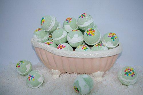 Bath Bomb Fizzy 14 Pack of Fizzies 2.5 oz Crisp Fresh Apple scent (Natural Scents Crisp Apple)